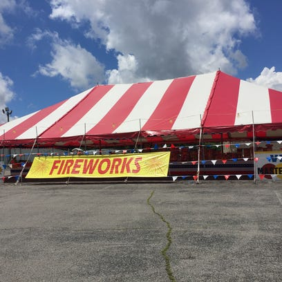 Fireworks tents, like Cassity's Fireworks, are popping