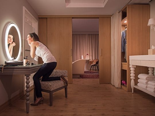 """A view into a """"Grand Chamber"""" at a Virgin Hotel."""