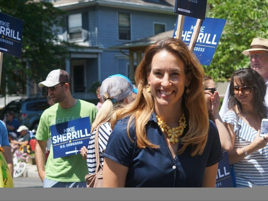 Mikie Sherrill of Montclair, who is running for Congress,