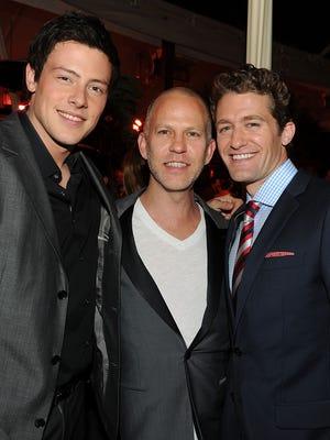 Cory Monteith, Ryan Murphy and Matthew Morrison back in 2010.
