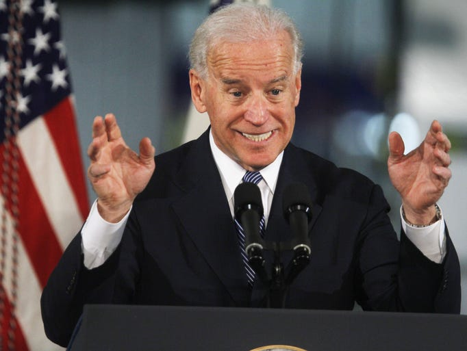 The ever-expressive Vice President Joe Biden gestures