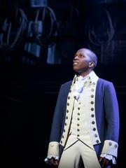 Leslie Odom Jr. as Aaron Burr, the man who shot Alexander Hamilton.