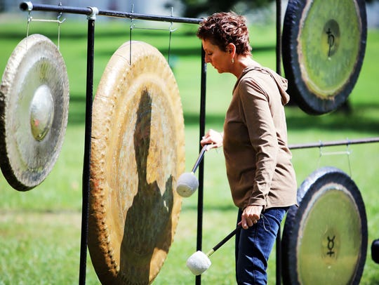 Carol Damoth of Royal Oak with Sacred Wave Gong Immersions