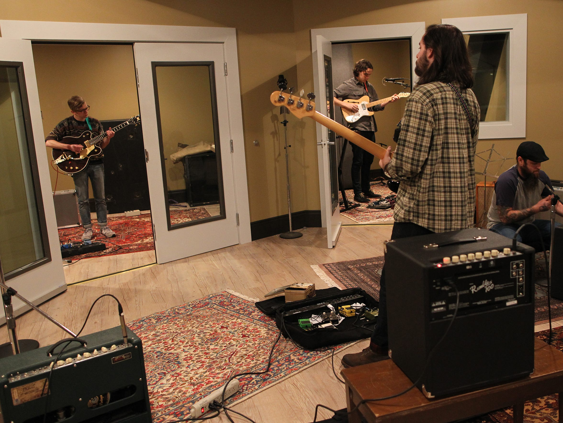 The Nashville-based Keeps unload their gear before