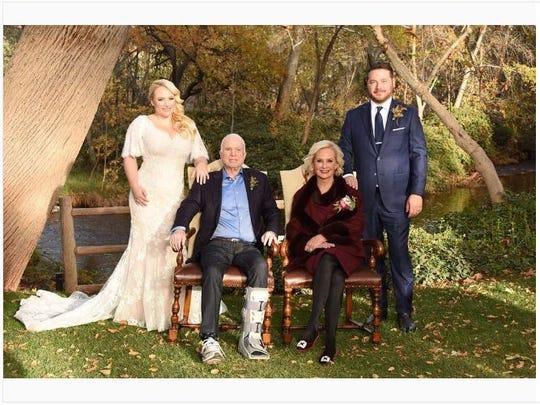 Daughter Meghan McCain marries Ben Domernech in Sedona.