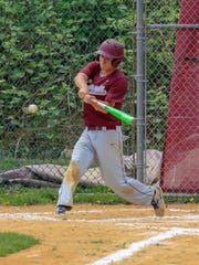 Leonia senior Keith Galfo recorded his 100th career hit for the Lions baseball team on Friday, May 18, 2018.