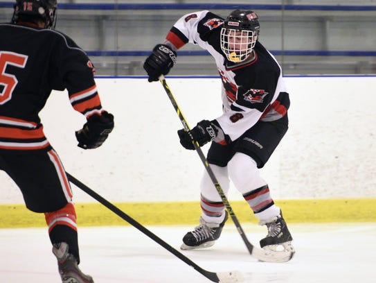 Mark Cinotti tallied a point on each Northern Highlands goal in a 3-0 win versus Morris Knolls in the Public B state hockey quarterfinals on Monday.