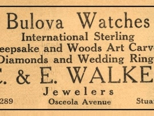 Advertisement for Walker's Jewelry Store in December