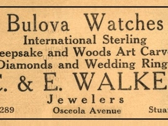 Advertisement for Walker's Jewelry Store in December 1950.