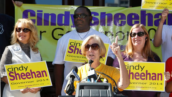 Activist Cindy Sheehan announced that she is running for California governor in Sacramento on Aug. 27.