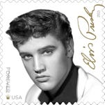 An image of Presley performing shot by Alfred Wertheimer will appear on the reverse side of the stamp pane.