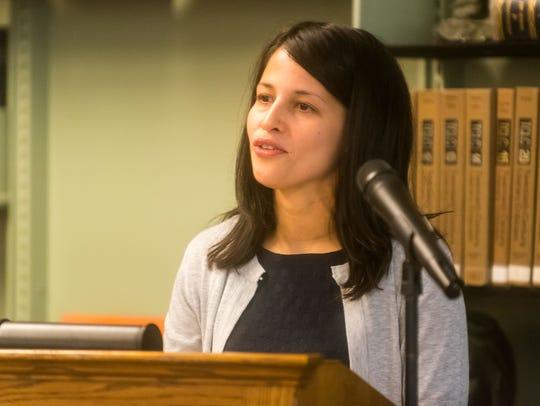 Vineland Vice Principal Jacqueline Roman-Alvarez speaks