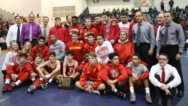 Paulsboro's wrestling team claimed the Group 1 championship to cap a perfect 23-0 season.