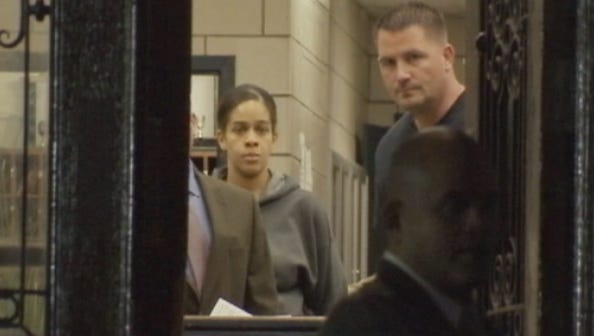 Jennifer Berry, 33, of Yonkers in police custody in the Bronx, Sept. 29, 2015. She was accused of killing her newborn daughter by tossing her out a seventh-floor window at her boyfriend's Bronx apartment.