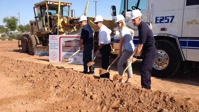 A groundbreaking was held Friday for a new fire station at Cooper and Warner roads in Gilbert.