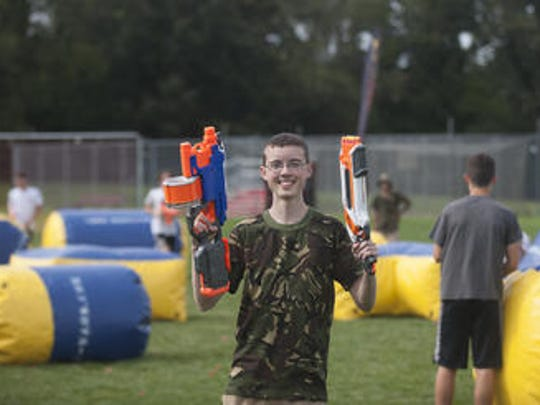 Austin Dasher, a 17-year-old Delanco teen, started his own company recently called Nerf Wars. His mobile Nerf battle company puts on birthday parties, team building events and more. He's shown at Cinnaminson High School where his company put on a battle for the boys varsity soccer team, which used it as a team building exercise and just a fun outlet.