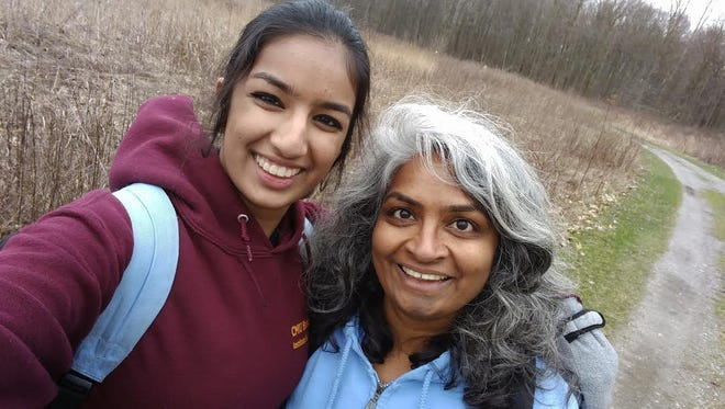 Farmington Hill residents Minali Bhatt and her mother, Anandhi Chandran, enjoyed their time spent mapping vernal pools in Oakland County parks. This was the capstone project for the Michigan Conservation Stewards Program.