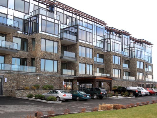 The exterior of Lookout Residences at Hudson Harbor  in Tarrytown.