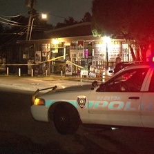 A robbery suspect was shot at the 9100 block of Scranton Friday night.
