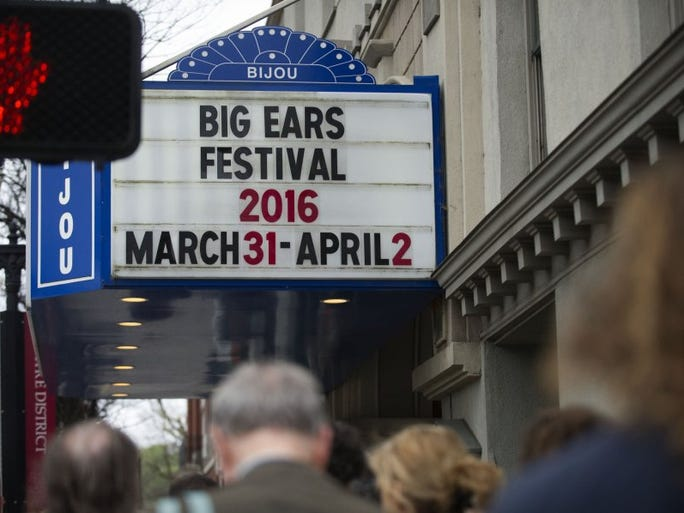 Fans line up to get into the Anthony Braxton 10 + 1tet performance during the Big Ears Festival in Knoxville on Saturday, April 1, 2016.