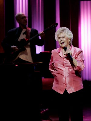 "Jean Shepard performs during the ""Grand Ole Opry"" breast cancer awareness event at the Opry House on Oct. 2, 2009."