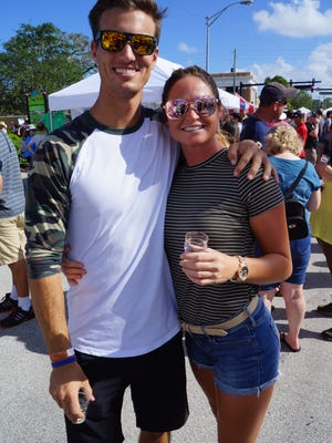 Elliott Russell and Ashley Nolan of CBS' Survivor: Heroes vs. Healers vs. Hustlers at the Rocky Water Brew Fest in downtown Eau Gallie on Oct. 14, 2017.