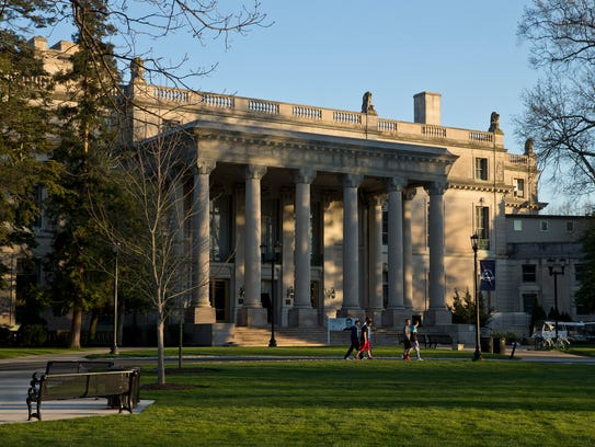 Exterior of Woodrow Hall. Monmouth University holds