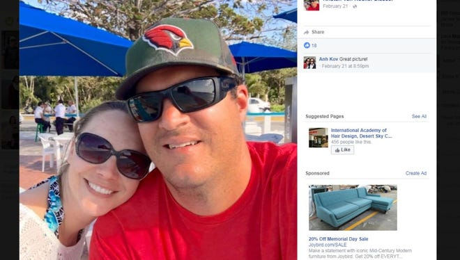 A photo of Phoenix police Officer David Glasser and his wife, Kristen, is her profile picture on Facebook.