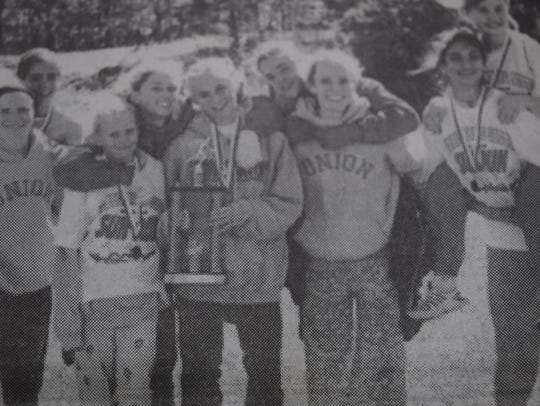The Bravettes cross-country team in October 2004 was