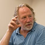 Actor, producer and now MSU Artist in Residence, Timothy Busfield talks about how he feels at home on the campus where he grew up and where his mother worked and his father taught at Fairchild Theatre Monday, June 20, 2016.