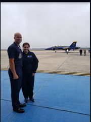 C.A. Weis Elementary School Principal Holly Magee took a 40-minute flight with the Blue Angels Wednesday after being nominated as part of the Blues' Key Influencer Program for her work in the community.