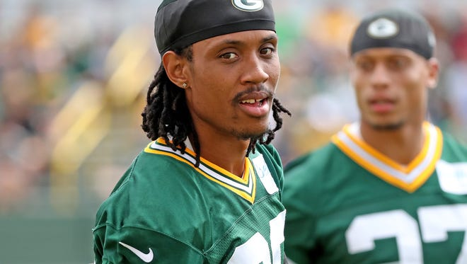Green Bay Packers cornerback Kevin King (20) during Green Bay Packers Training Camp Friday, July 27, 2018 at Ray Nitschke Field in Ashwaubenon, Wis
