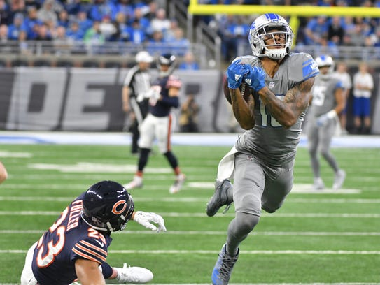 Lions rookie Kenny Golladay averaged 17.0 yards per