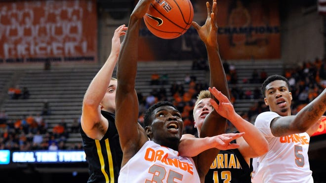 Bishop Kearney graduate Chinonso Obokoh (35), a sophomore center for Syracuse, was named the university's male Scholar Athlete of the Week.