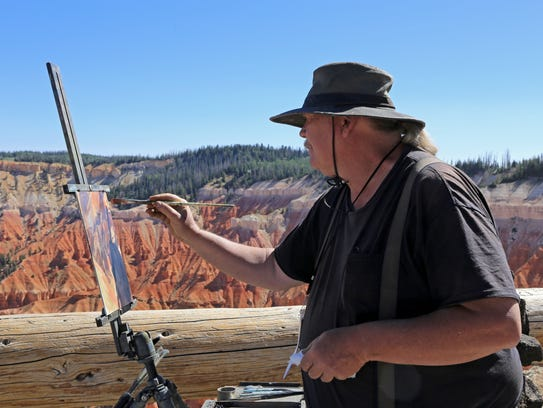 J. Brad Holt paints at Cedar Breaks National Monument
