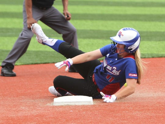 Lady Techsters' shortstop Katie Smith has stolen 22