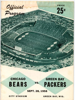 The official game program from the Sept. 29, 1959 game at Lambeau Field, then called City Stadium.
