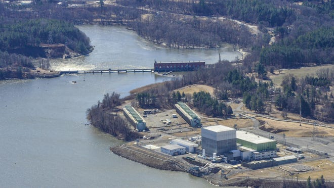 Vermont Yankee Nuclear Power Plant along the Connecticut River in Vernon seen on March 11, 2016.