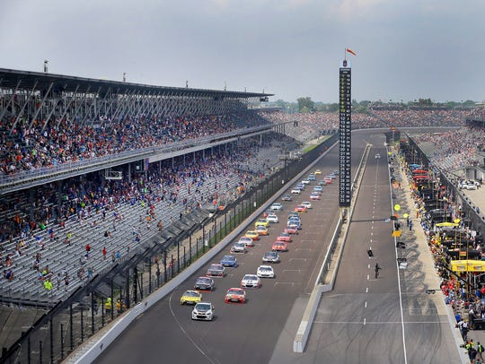 There were plenty of empty seats at the Brickyard 400