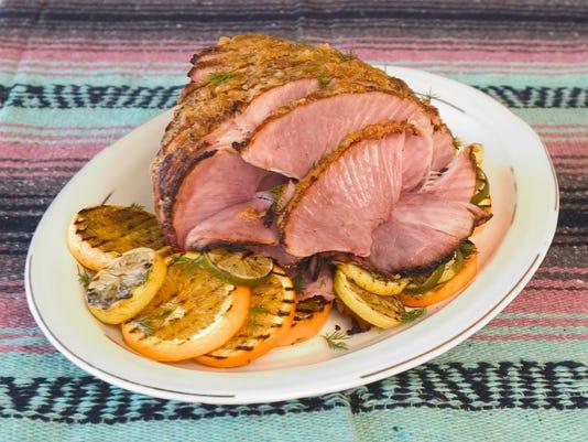 Roasted Ham with Spicy Orange Glaze
