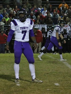 TCA's Andrew Goldsmith, seen here in the Lions' second round win over Adamsville, won't get to play vs. Trezevant tonight due to injjury.
