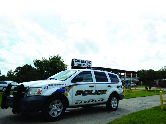 A Carencro Police Department school resource officer's