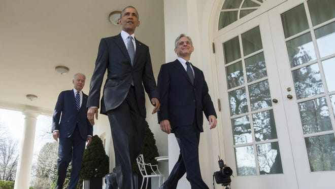 President Obama and Judge Merrick Garland on March 16, 2016.