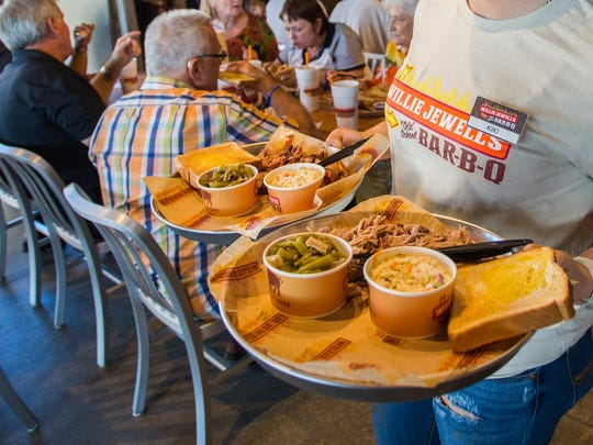 Willie Jewell's Old School Bar-B-Q opened a restaurant in Tallahassee Wednesday.