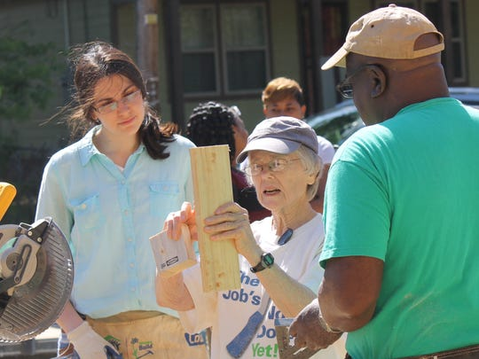 Mary Louise Shaw shares her expertise at a Habitat for Humanity work site in 2014, in Jackson's Virdin Addition. Shaw has volunteered with Habit for Humanity Mississippi Capital Area since 1992.