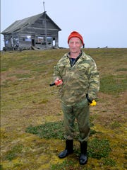 The engineer on a weather station on the Russian island