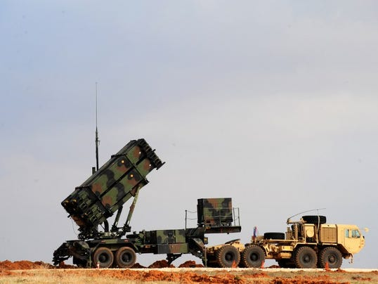 Patriot missile launcher system