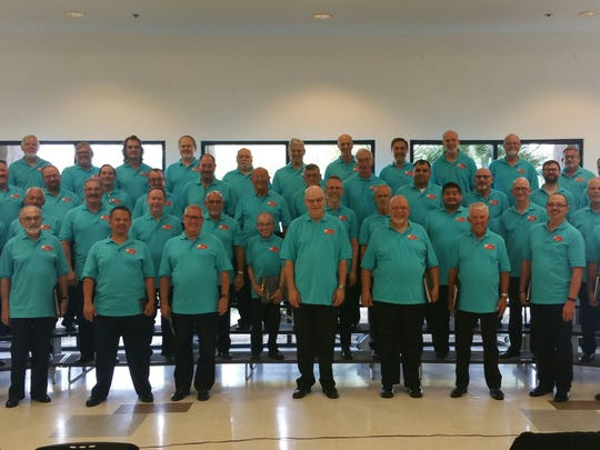 The Palm Springs Gay Men's Chorus poses.