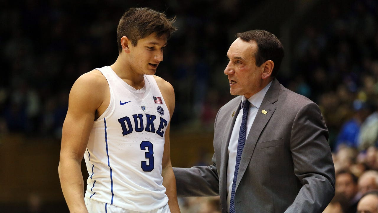 Mike Krzyzewski made his presence felt even while away from the team recovering from surgery, banning Duke players from the locker room and from wearing team apparel.