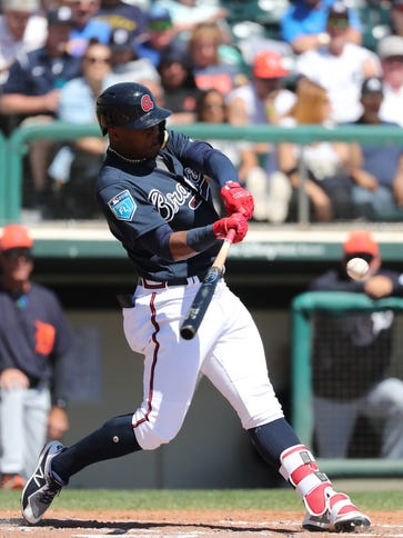This swing by Braves outfielder Ronald Acuna produced